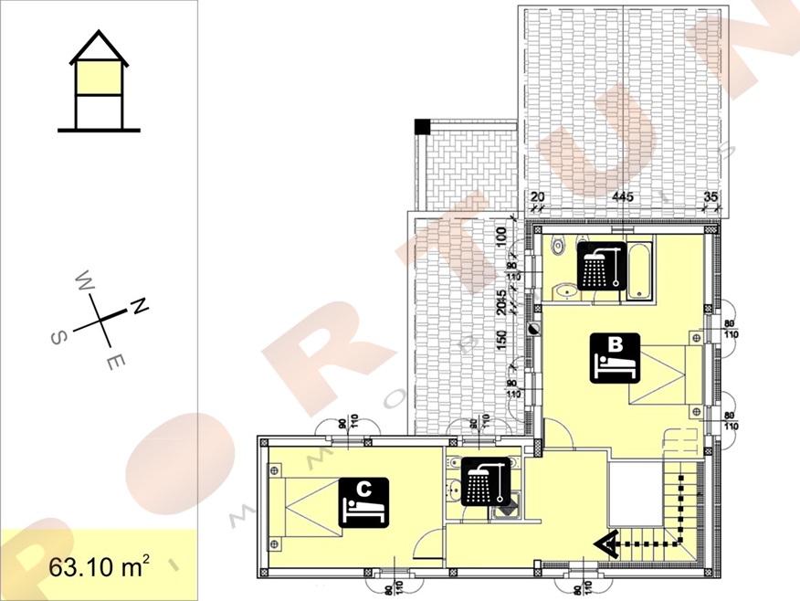 Nuova casa con tre camere da letto a valle for Nuova costruzione casa 2 camere da letto